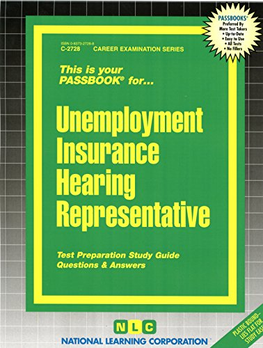 Download Unemployment Insurance Hearing Representative(Passbooks) (Career Examination Passbooks) Pdf