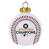 Houston Astros 2017 World Series Champions Christmas Holiday Glass Ball Ornament