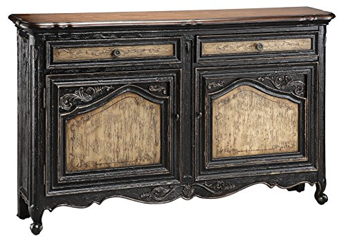Hand Painted Wood Furniture - Stein World Furniture Avalon Sideboard, Aged Textured Black and Tan
