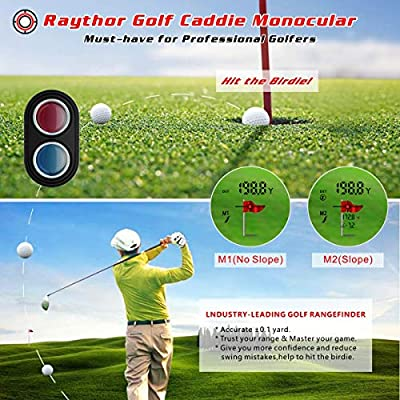Raythor Golf Rangefinder,6X Rechargeable Laser Range Finder 1000 Yards with Slope Adjustment,PinSeeker with JOLT Tech and Fast Focus System,Continuous Scan Support,Perfect for Choosing The Right Club by Raythor