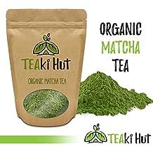 TEAki Hut Organic Matcha Green Tea Powder 2 Ounce (50 Servings) Culinary Grade | Excellent Weight Loss Benefits | More Antioxidants than Green Tea Bags | Best for Making Matcha Tea, Smoothies, Lattes