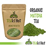 TEAki Hut Organic Matcha Green Tea Powder 4 Ounce (100 Servings) Culinary Grade | Excellent Weight Loss Benefits | More Antioxidants than Green Tea Bags | Best for Making Matcha Tea, Smoothies, Lattes