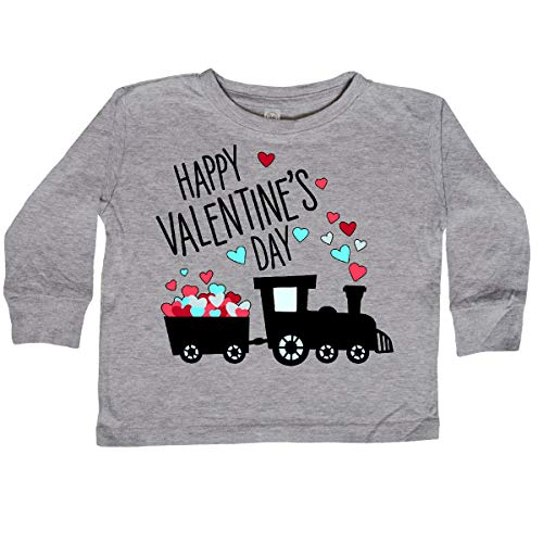 inktastic - Happy Toddler Long Sleeve T-Shirt 3T Athletic Heather 33ac2
