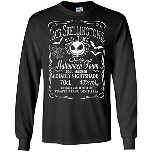 Best Jack Skellington Costume (Nightmare Before Christmas Jack Skellington Pumkin King Halloween Long Sleeve)