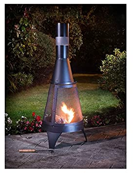 Garden Steel Chimenea Chimnea Chiminea Patio Heater Fire Pit 4FT Cover Protector