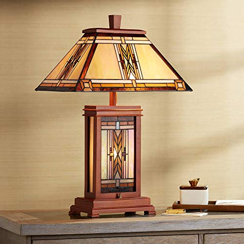 Walnut Mission Collection Table Lamp - Robert Louis Tiffany ()