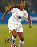 #10: ANGELA HUCLES - Played Pro Soccer as a Midfielder and Member of U.S. WOMEN'S NATIONAL SOCCER TEAM - Signed 8x10 Color Photo
