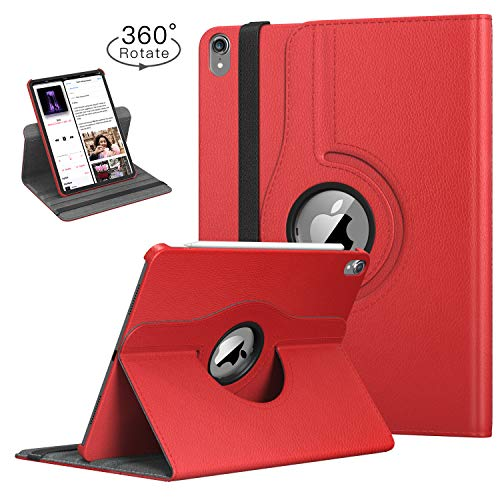 (TiMOVO Folio Case for iPad Pro 11 Inch 2018 - [Support Apple Pencil Charging] 360 Degree Rotating Smart Leather Swivel Case with Auto Sleep/Wake for Apple iPad Pro 11