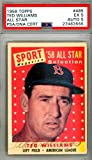 Ted Williams Autographed Signed 1958 Topps Card #485 Boston Red Sox - PSA/DNA Certified - Baseball Slabbed Autographed Cards
