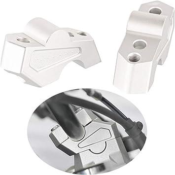 Motorrad Lenkererhöhung Verstellhalterungen Lenkerverlegung Aus Aluminium Zubehör Für F750gs 2018 2019 Silber Auto