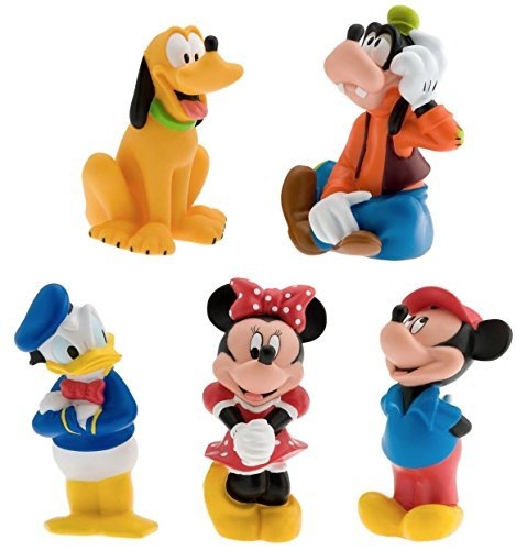 Disney Parks Exclusive Mickey and Friends 5 Pc. Bath Tub Pool Squeeze Toys Set Exclusive Mickey Mouse