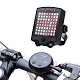 RUNACC Rechargeable LED Bike Taillight Remote Control Bicycle Turn Light Super Bright Bicycle Rear Light for Optimum Cycling Safety, Black