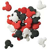 Whimsical Practicality Mickey Mouse Cake Decorations and Edible Candy Confetti Sprinkles for Cakes Cupcakes and Cookies