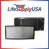 Replacement fitler for Honeywell HHT-011 Air Purifier Filter Kit also Fits 16200 16216 Desktop Air Purifier Part # HRF-B2C (HRFB2C), 3811-350, 16216, 30LB1620XB2, HRF-C1; By Vacuum Savings.