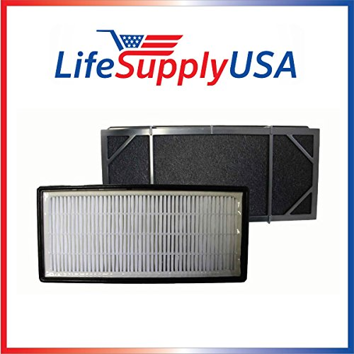 LifeSupplyUSA Replacement Filter for Honeywell HHT-011 Air Purifier Filter Kit Also Fits 16200 16216 Desktop Air Purifier Part # HRF-B2C (HRFB2C), 3811-350, 16216, 30LB1620XB2, HRF-C1