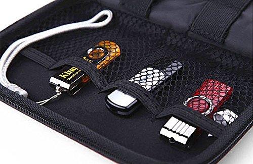 Elvam EVA Shockproof Waterproof Portable Hard Drive Case Bag / Cable Case Bag / USB Flash Drive Case Bag / Power Bank Case Bag / GPS Case and Digital Camera Case - Blue by Elvam (Image #5)
