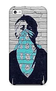 Jim Shaw Graff's Shop Hot Fashion Tpu Case For Iphone 5c- Graffiti Defender Case Cover