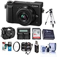 Panasonic Lumix DMC-GX85 Mirrorless Camera with Lumix G Vario 12-32mm f/3.5-5.6 ASPH Lens, Black - Bundle with Camera Case, 32GB SDHC Card, Spare Battery, Tripod, Dual Charger, Software Pack and More