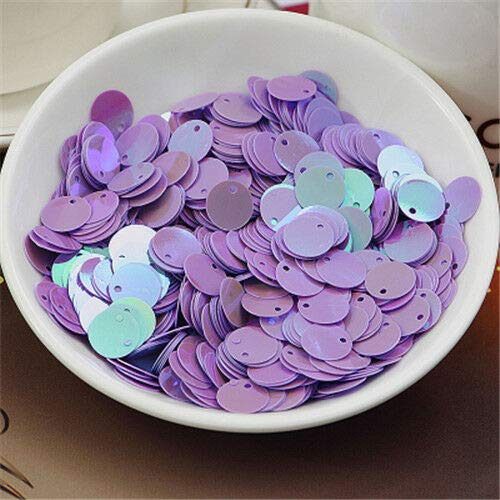 MOPOLIS 150Pcs 10mm Round Loose Sequins Paillettes DIY Sewing Wedding Jewelry Makings | Color - Purple AB