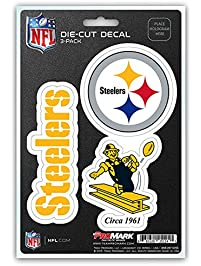newest c4677 7dfdb NFL Team Decal - Pack of 3