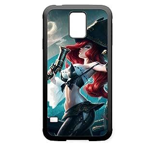 MissFortune-001 League of Legends LoL case cover for Samsung Galaxy S5 - Rubber Black