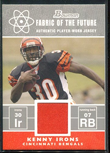 2007 Bowman Fabric of the Future #FFKI Kenny Irons Jersey Rookie Card RC (Kenny Irons)