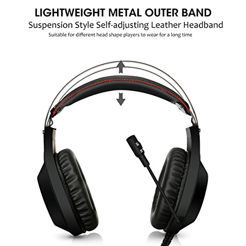 Computer Headsets, ELEGIANT Over-Ear Gaming Headphones with Microphone, Bass Stereo Surround Sound Volume Control, Compatible with PS4 Pro/PS4 Xbox One Nintendo Switch PC Mobilephone Laptop Mac-Black by ELEGIANT (Image #3)