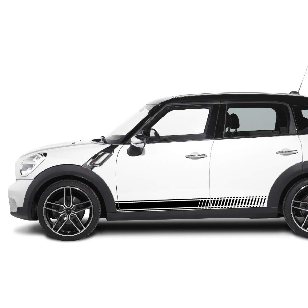 Amazon com bubbles designs 2x decal sticker vinyl side racing stripes compatible with mini countryman r60 lci 2010 2015 automotive