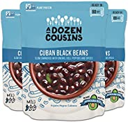 A Dozen Cousins Meals Refried Beans Ready to Eat, Vegan and Non-GMO & Seasoned - Made with Avocado