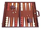 Tournament Backgammon Set - 21 in. - Classic Brown by Middleton Games