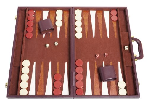 Middleton Games Tournament Backgammon Set - 21 in. - Classic Brown ()