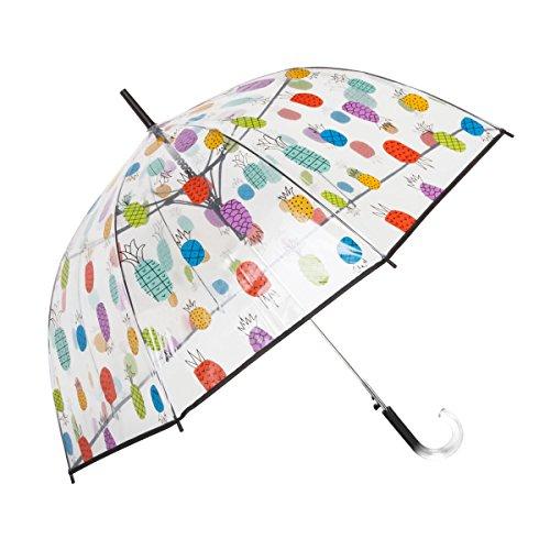 Pineapple Bubble (ShedRain® Auto Open Pineapple Print Clear Bubble Umbrella: Jucy)