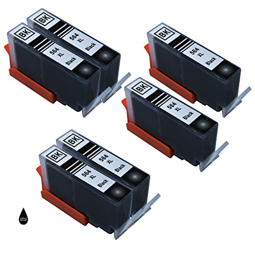 JUSTCOLOR 564XL Ink Cartridges Replacement for HP 564XL 5 Color Use with HP Photosmart 7520 5514 5520 6520 7510 7515 7525 6510 C6380 B8550 Officejet 4620 Premium C410A Deskjet 3520 (6BK)