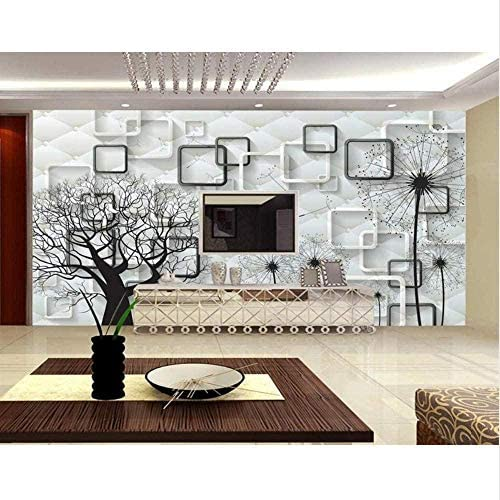 Bosakp 3D部屋の壁紙カスタム写真不織布壁紙壁画タンポポ生命の木Hd写真テレビの壁3D 100X50Cm
