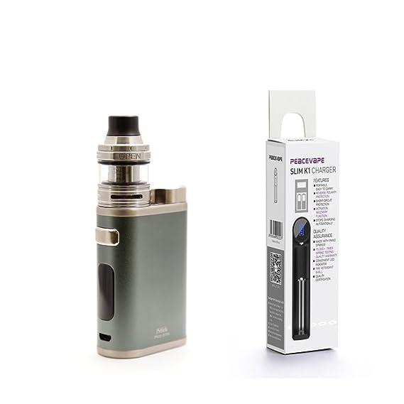 Eleaf iStick Pico 21700 ELLO 2mL Atomizador (Gris) Cigarrillo Electrónico con 1X21700 batería cargador de batería y 18650 USB PEACEVAPE Sin Tabaco y ...