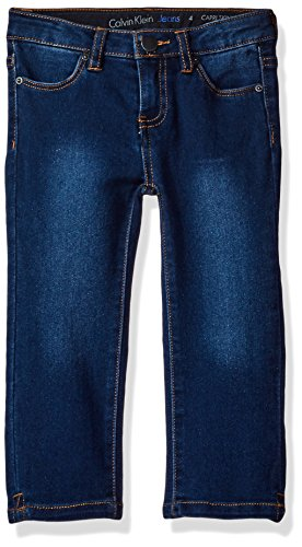 Calvin Klein Little Girls' Capri Skinny Pant, Starlight, 6X