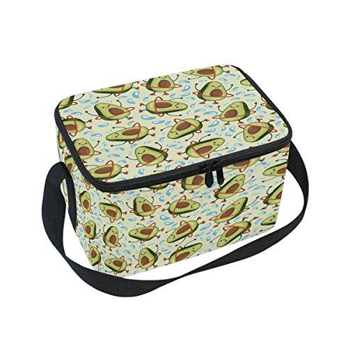 ALAZA Avocado Insulated Lunch Bag Box Cooler Bag Reusable To