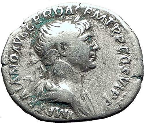 (114 IT TRAJAN 114AD Rome TRAJAN's COLUMN in the Forum An Denarius Good)