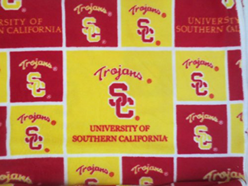 University Of Southern California USC Trojans Fleece Fabric Original Pattern 003