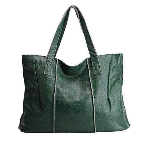 portés fashion cuir Sac DISSA portés 69316 LF main Vert épaule femme en Sac Sac à main qqORBX0w