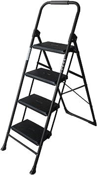 N/A Escalera Alemana Casa Plegable Escalera de Dos O Tres Peldaños Escalera de Cuatro Escalones Escalera en Espiga Escalera Interior Escalera Pequeña Silla Escalera Ascendente,Negro,Escalera de cua: Amazon.es: Deportes y aire libre