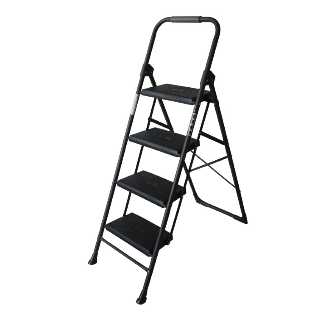 KFDQ Escalera Alemana Casa Plegable Escalera de Dos O Tres Pelda/ños Escalera de Cuatro Escalones Escalera en Espiga Escalera Interior Escalera Peque/ña Silla Escalera Ascendente,Negro,Escalera de cua