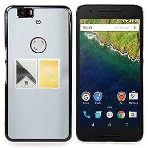 "For Huawei Google Nexus 6P Case , Casa Ventana profundo minimalista"" - Diseño Patrón Teléfono Caso Cubierta Case Bumper Duro Protección Case Cover Funda"