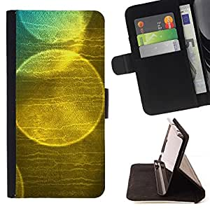 For Apple iPhone SE / iPhone 5 / iPhone 5S Case , Burbuja de jabón Reflexión Sun Naturaleza- la tarjeta de Crédito Slots PU Funda de cuero Monedero caso cubierta de piel