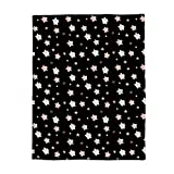 Where to Buy Emoji Bedding YEHO Art Gallery Flannel Fleece Bed Blanket Soft Throw-Blankets for Adult Kids Girls Boys,Cute Stars Emoji Pattern Black,Lightweight Blankets for Bedroom Living Room Sofa Couch,49x79inch