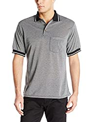 Red Kap Men's Performance Knit Birdseye Shirt, Navy/Cream, Short Sleeve Small