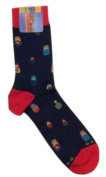 Gallo - Calcetines cortos - para hombre Azul Blu Fantasia Multicolor 40-45