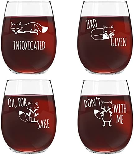 Stemless Glasses Infoxicated Novelty Sayings