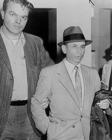 Meyer Lansky being led by detective for booking 8x10 Photo Print (Meyer Lansky Poster)