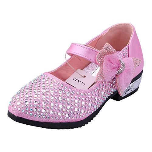 iTvTi Girls Sparkle Mary Jane Princess Shoes Ballet Toddler Sandals Pink